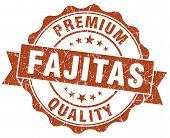 Fajitas Brown Grunge Seal Isolated On White