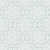 Damask Seamless Vector Pattern. Orient Background. Blue and White Colors