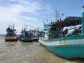 Boats At Mekong River