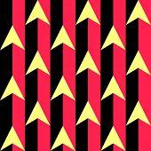 Seamless Arrow and Stripe Pattern. Vector Regular Texture