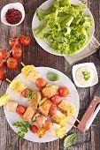 foto of kebab  - grilled fish kebab - JPG