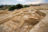 image of jericho  - Old ruins and remains in Tell es - JPG