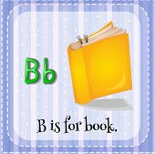 image of letter b  - Flashcard letter B is for book - JPG