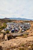 pic of scrap-iron  - Scrap Yard With Pile Of Crushed Cars in tenerife canary islands spain - JPG