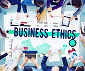 picture of ethics  - Business Ethics Working People Planning Concept - JPG