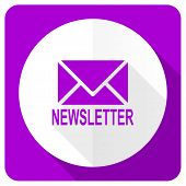 picture of newsletter  - newsletter pink flat icon  - JPG