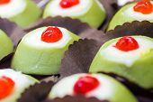 foto of messina  - some little Cassata siciliana a traditional sweet from Palermo Sicily Italy - JPG