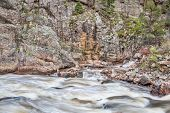 pic of collins  - Cache la Poudre River at Big Narrows west of  Fort Collins in northern Colorado  - JPG