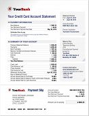 pic of statements  - Credit Card Bank Account Statement Finance Document Template - JPG
