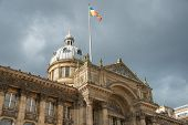 stock photo of west midlands  - A flag above the Birmingham museum - JPG