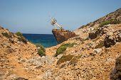 image of shipwreck  - Scenic image of shipwreck Amorgos Cyclades Greece - JPG