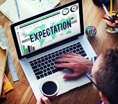 foto of expectations  - Expectation Hope Expecting Prediction Assumption Concept - JPG