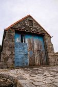 picture of anglesey  - Old lifeboat station Moelfre Anglesey which dates from 1875 and was replaced by a new boathouse and slipway in 1909 - JPG