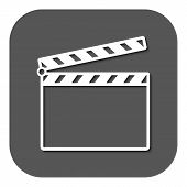 pic of clapper board  - The clapper board icon - JPG