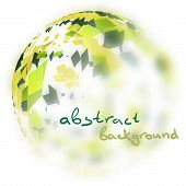 image of semi-circle  - Abstract background with blurred semi sphere of triangles with space for text - JPG