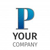 image of letter p  - Letter P logo icon design template elements - JPG