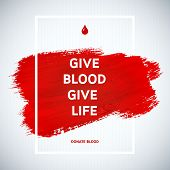 picture of blood  - Creative Blood Donor Day motivation information donor poster - JPG
