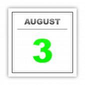 image of august calendar  - August 3 - JPG