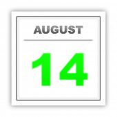 picture of august calendar  - August 14 - JPG