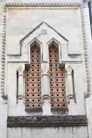 stock photo of freemasons  - Detail on the Masonic Lodge in Perigueux France - JPG