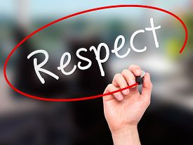 picture of respect  - Man Hand writing Respect black marker on visual screen - JPG