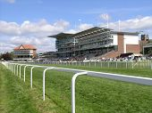 image of race track  - York horse racing course - JPG