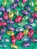 Easter Chocolates In Easter Grass