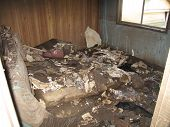 Flood Damaged Bedroom