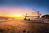 Barco en Bali