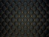 Black Buttoned Luxury Leather Pattern With Gemstones poster