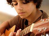 Closeup of a Young Musician