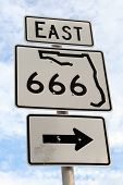 Florida East Highway 666 Right Sign