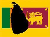 mapa do Sri Lanka e do Sri Lanka ilustração de bandeira JPG