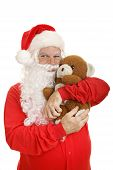 Santa Hugs Teddy Bear