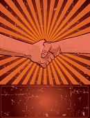 Design for Labor Day with worker?s handshake