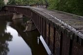 Abandoned Railroad Bridge At Nicollet Island