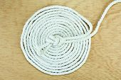 White Rope Coiled
