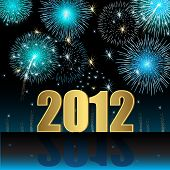 stock photo of new years celebration  - Illustration Happy New Year 2012 - JPG