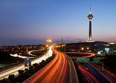 picture of tehran  - Night shot from Tehran - JPG