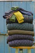 Traditional Irish winter knits
