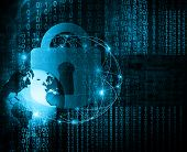 Best Internet Concept of global business.Technological background. Abstract security digital technol poster