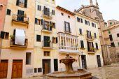 Plaza sant Jeroni Mallorca en Palma de Mallorca barrio Calatrava Balearic España