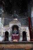 foto of apostolic  - The altar in armenian apostolic church Armenia - JPG