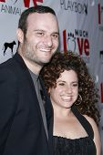 LOS ANGELES - JUL 19: Marissa Jaret Winokur and husband Judah Miller at the Much Love Animal Rescue