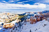 Bryce Canyon National Park in winter, Utah, USA