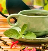 Tea With Mint Means Refresh Drink And Refreshment poster