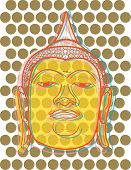 Buddha Head Pop Dots (Vector)