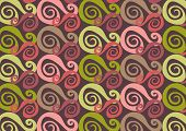 Whirly Purple And Pink (Vector)