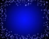 Dark Blue Card With Stars