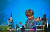School Concept. Chemistry The Science Classroom. Science And Education Concept. A Chemistry Demonstr poster